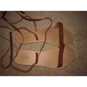 Charlotte Russe Tie-Up Sandals